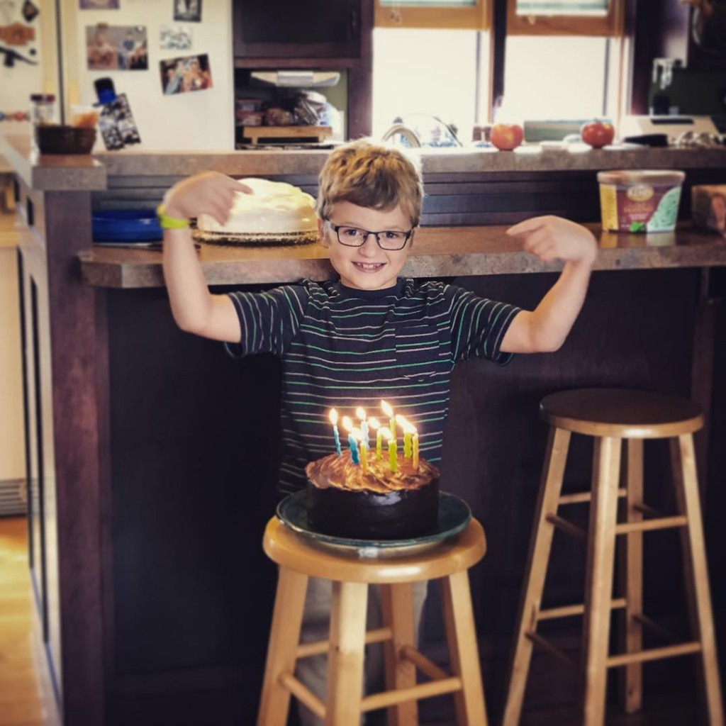 Who turned 9 today? This guy! miloharold cake by loristangler